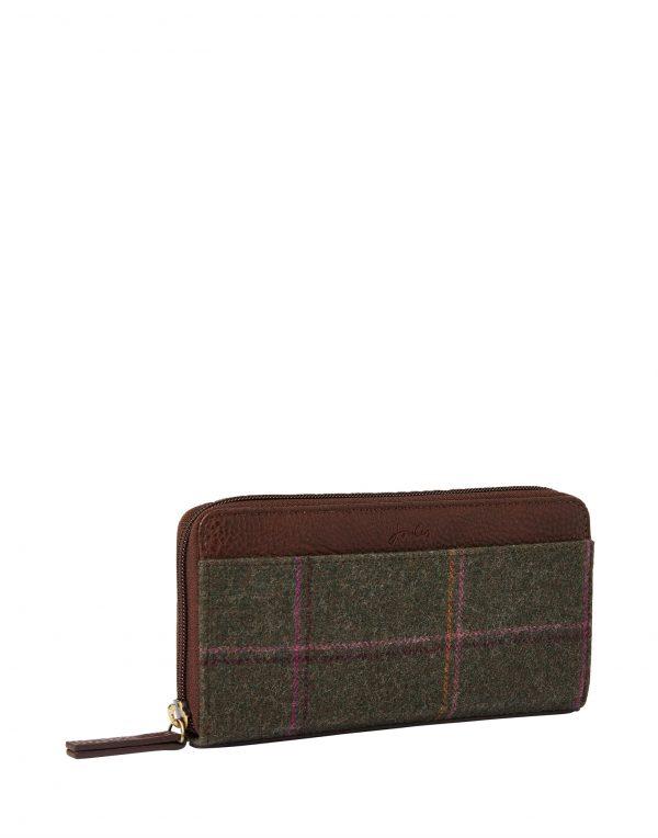 Joules Fairford Dark Green Tweed Purse -3777