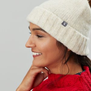 Joules Snugwell Cream Heavyweight Boucle Hat-0
