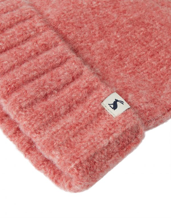 Joules Snugwell Pink Blush Heavyweight Boucle Hat-3787