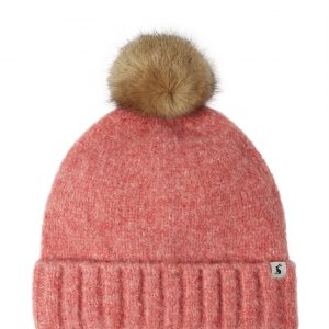 Joules Snugwell Pink Blush Heavyweight Boucle Hat-0