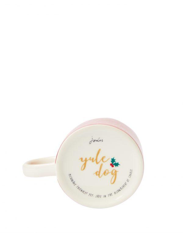 Joules Red Christmas Dog Mug, Yule Dog, Gift Boxed-3749