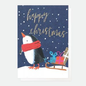 Caroline Gardner Happy Christmas Penguin Cards, Pack of 5-0