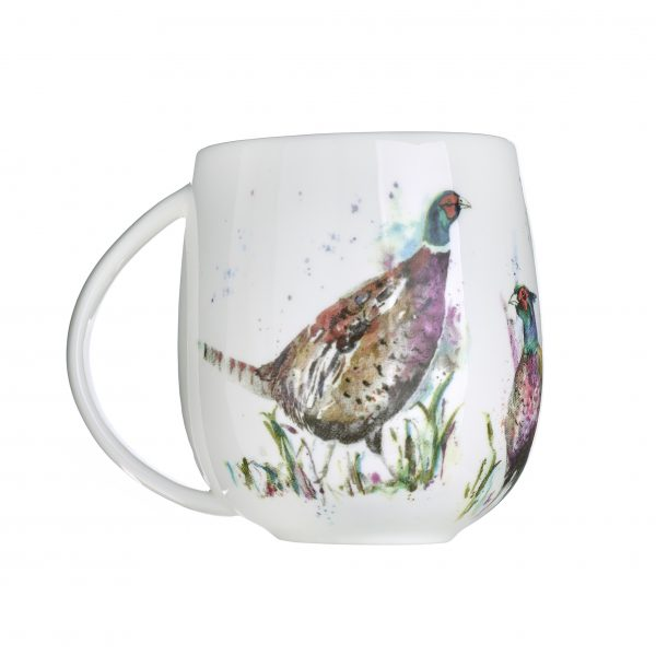 Voyage Fine Bone China Dashing Pheasants Mug, 430ml-3835
