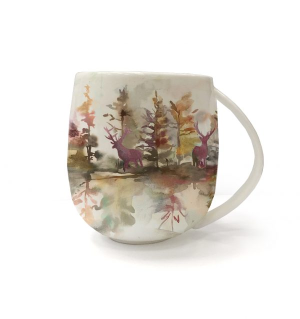 Voyage Fine Bone China Wilderness Plum Mug, 430ml-0