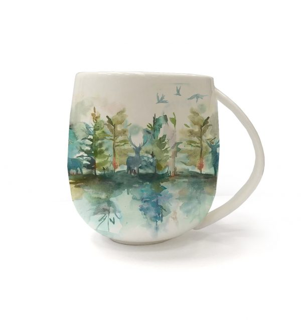 Voyage Fine Bone China Wilderness Topaz Mug, 430ml-0