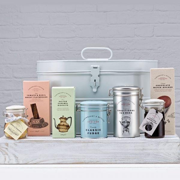 Cartwright & Butler The Tea Time Essentials Hat Tin, Food Hamper -0