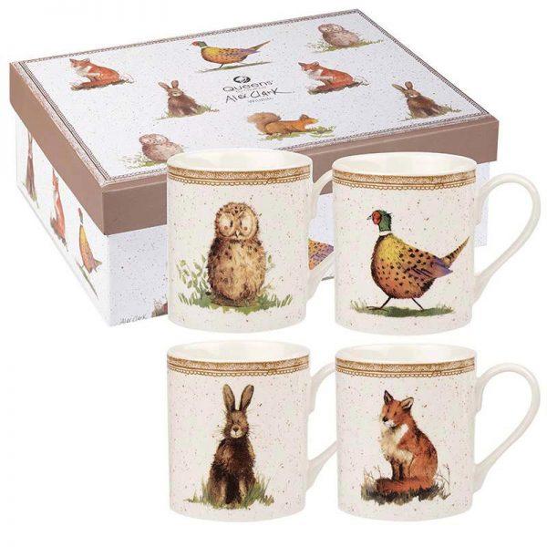 Alex Clark Wildlife Set of 4 Mugs, Gift Boxed-0