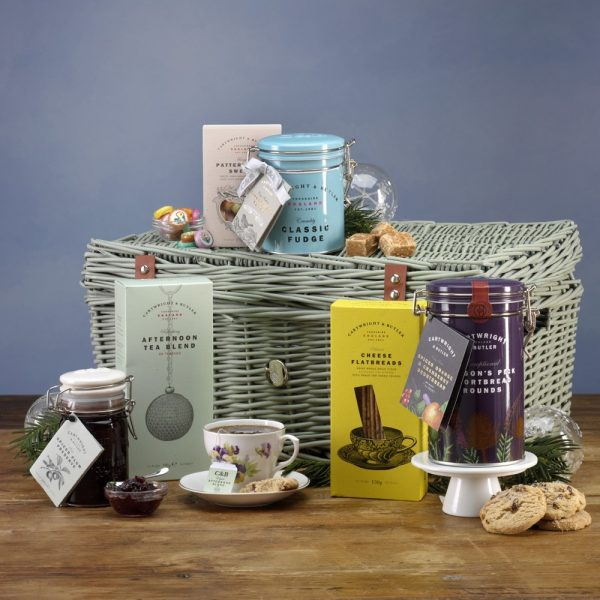 Cartwright & Butler Christmas Afternoon Tea Luxury Wicker Basket Hamper -0