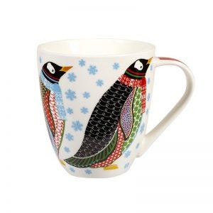 Paradise Birds Christmas Penguin Crush Mug-0