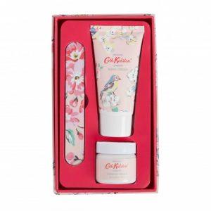 Cath Kidston Blossom Birds White Clover & Matcha Tea Manicure Set -0