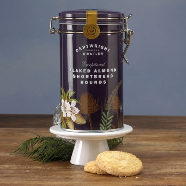 Cartwright & Butler Flaked Almond Shortbread In Tin, Biscuits -0