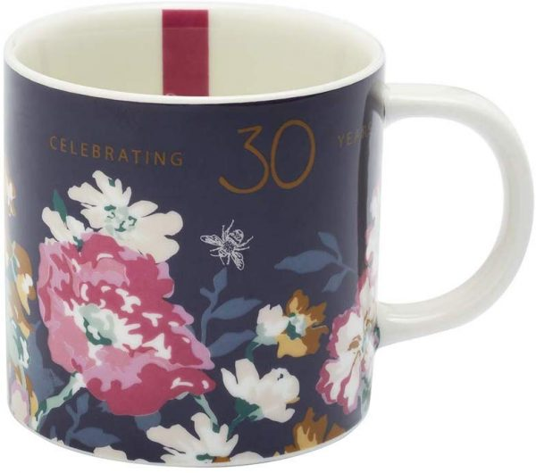 Joules 30th Anniverary Floral Mug, Gift Boxed-0