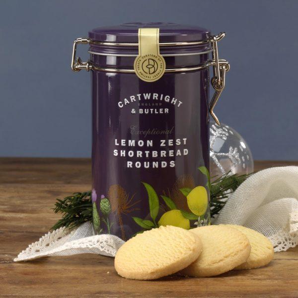 Cartwright & Butler Lemon Zest Shortbread Rounds In Tin-0