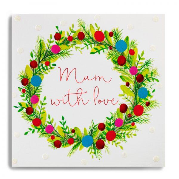 Janie Wilson Mum with Love Christmas Card-0