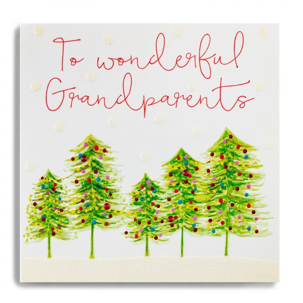Janie Wilson Wonderful Grandparents Christmas Card-0