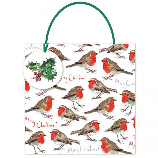Madeleine Floyd Robin Merry Christmas Medium Gift Bag -0