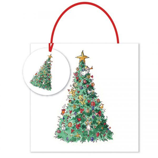 Madeleine Floyd Christmas Tree Small Gift Bag -0