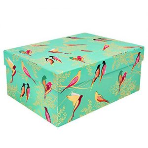Sara Miller Green Birds Large Gift Box-0