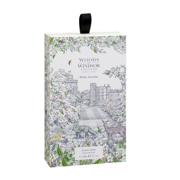 Woods Of Windsor White Jasmine Soaps 3 x 60g -0