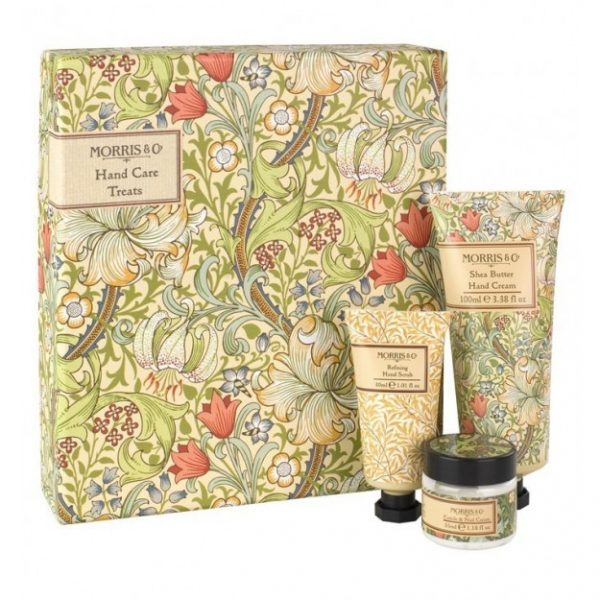 William Morris Golden Lily Hand Care Treats - Hand Cream, Hand Scrub & Cuticle Cream-0