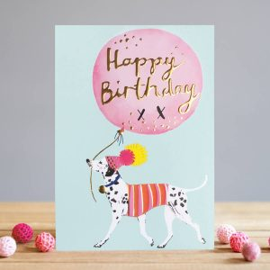 louise tiler Dalmatian birthday card