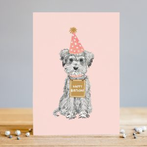 louise tiler happy birthday dog card