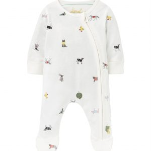 joules farm print baby grow