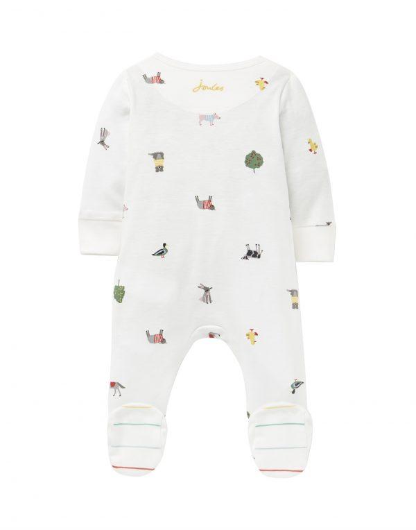 joules baby farm print babygrow