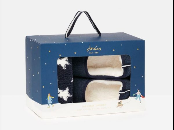 joules slipper and sock gift boxed