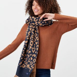 joules leopard scarf