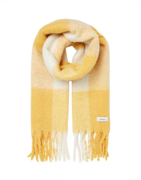 joules yellow scarf