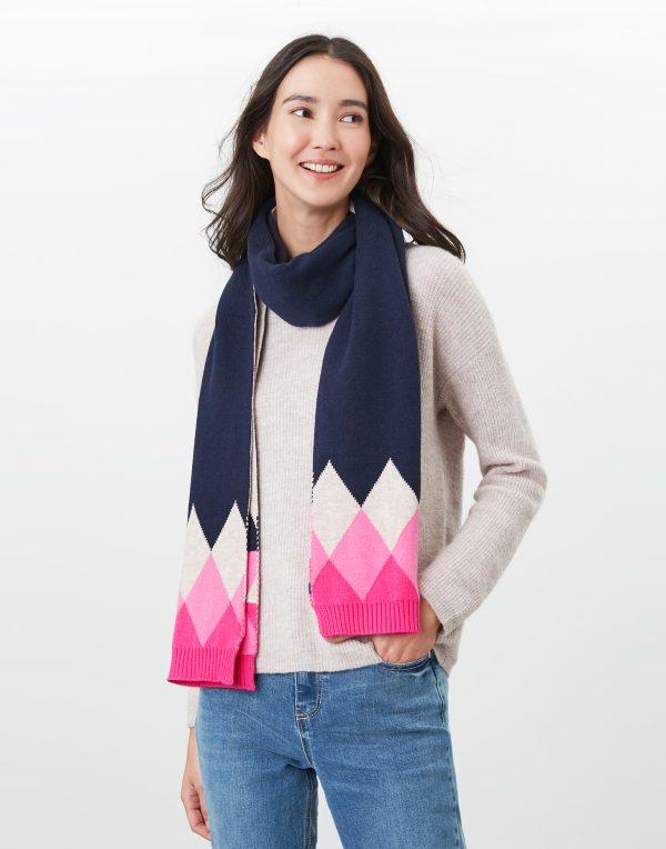 joules argyle scarf