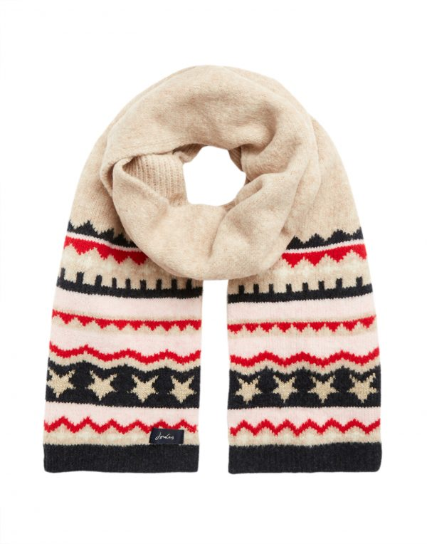joules fairisle scarf