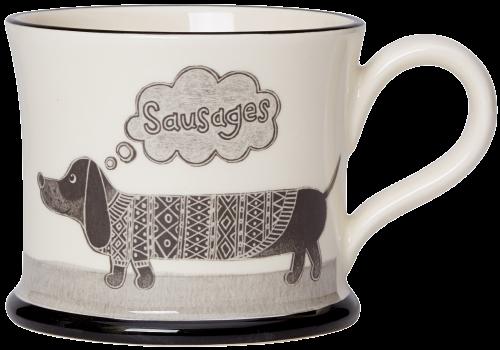 moorland potter sausage dog mug