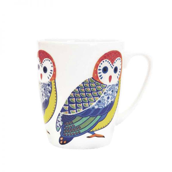 paradise birds owl mug