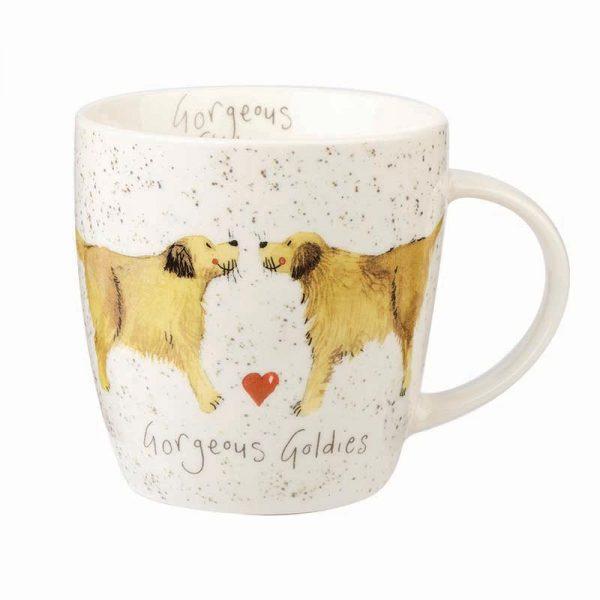 alex clark golden retriever mug