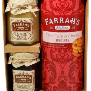 farrahs chocolate cherry biscuit set