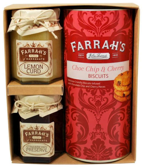 farrahs chocolate cherry biscuit set