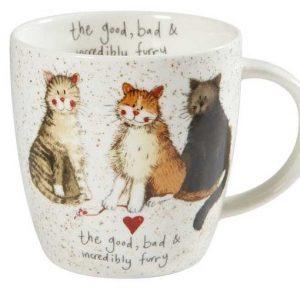 alex clark good bad furry cats mug