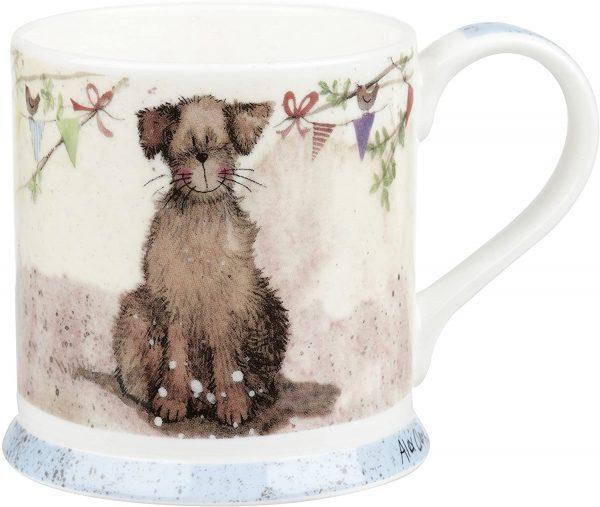 alex clark dog bunting mug