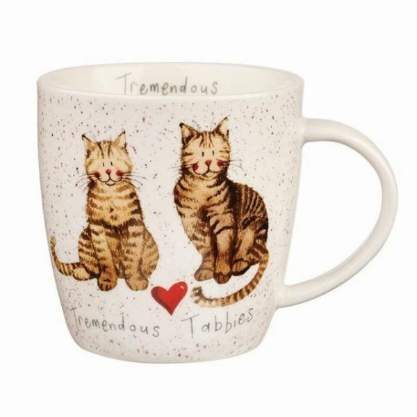 alex clark tabbies cats mug
