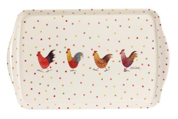 alex clark rooster tray