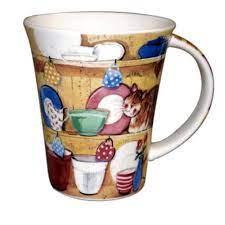 alex clark cat on shelf mug
