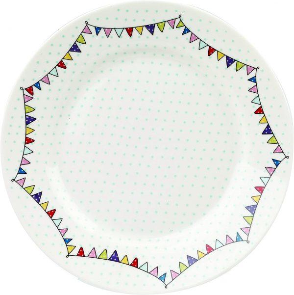 caravan trail festival tea plate