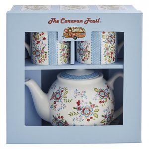 caravan trail hippe floral tea for two