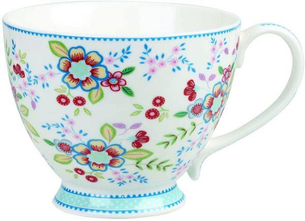 caravan trail floral tea cup