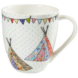 caravan trail festival teepees mug