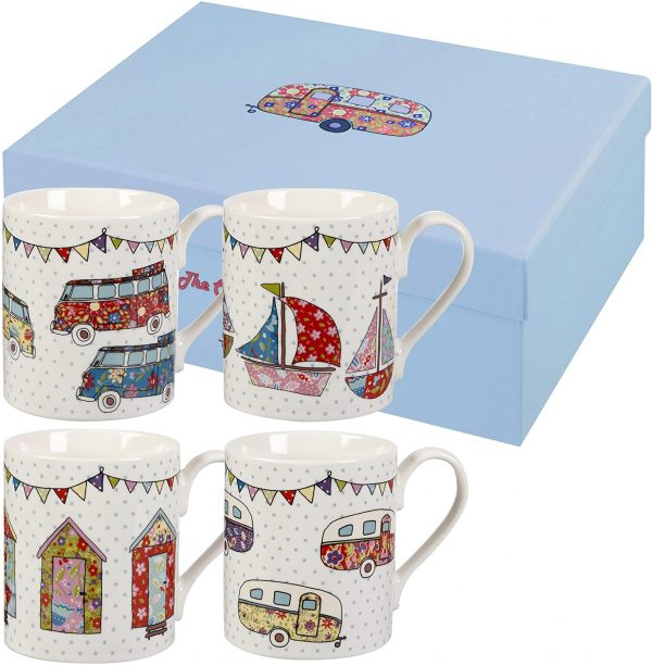 caravan trail set of festival mugs