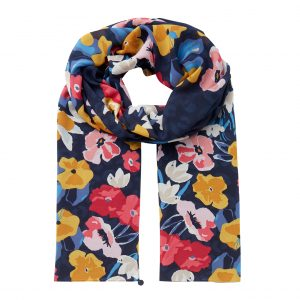 joules french navy conway scarf