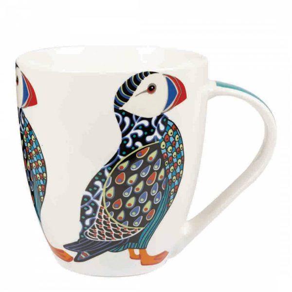 paradise birds puffin mug